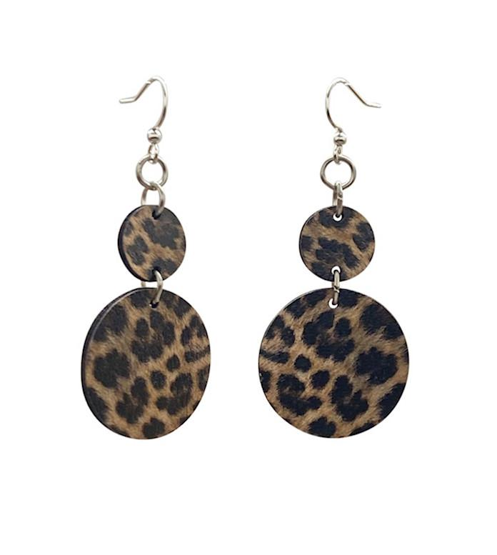 Leopard Print Earrings - Southern Rae's