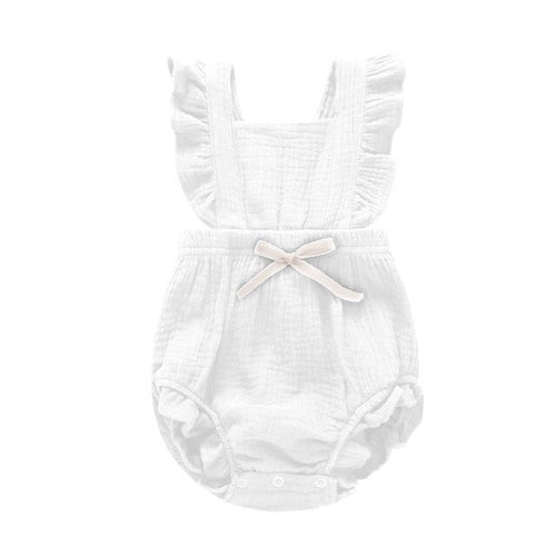 Newborn Baby Girls Ruffle Solid Color Romper - Southern Rae's