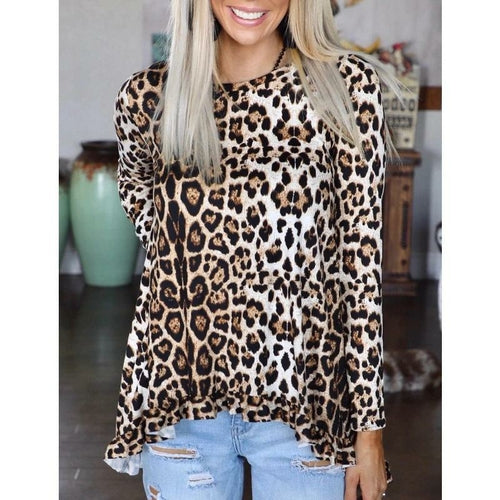 leopard long sleeve T shirt - Southern Rae's