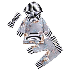 3pcs Infant Baby Girls Clothes Set Long Sleeve - Southern Rae's