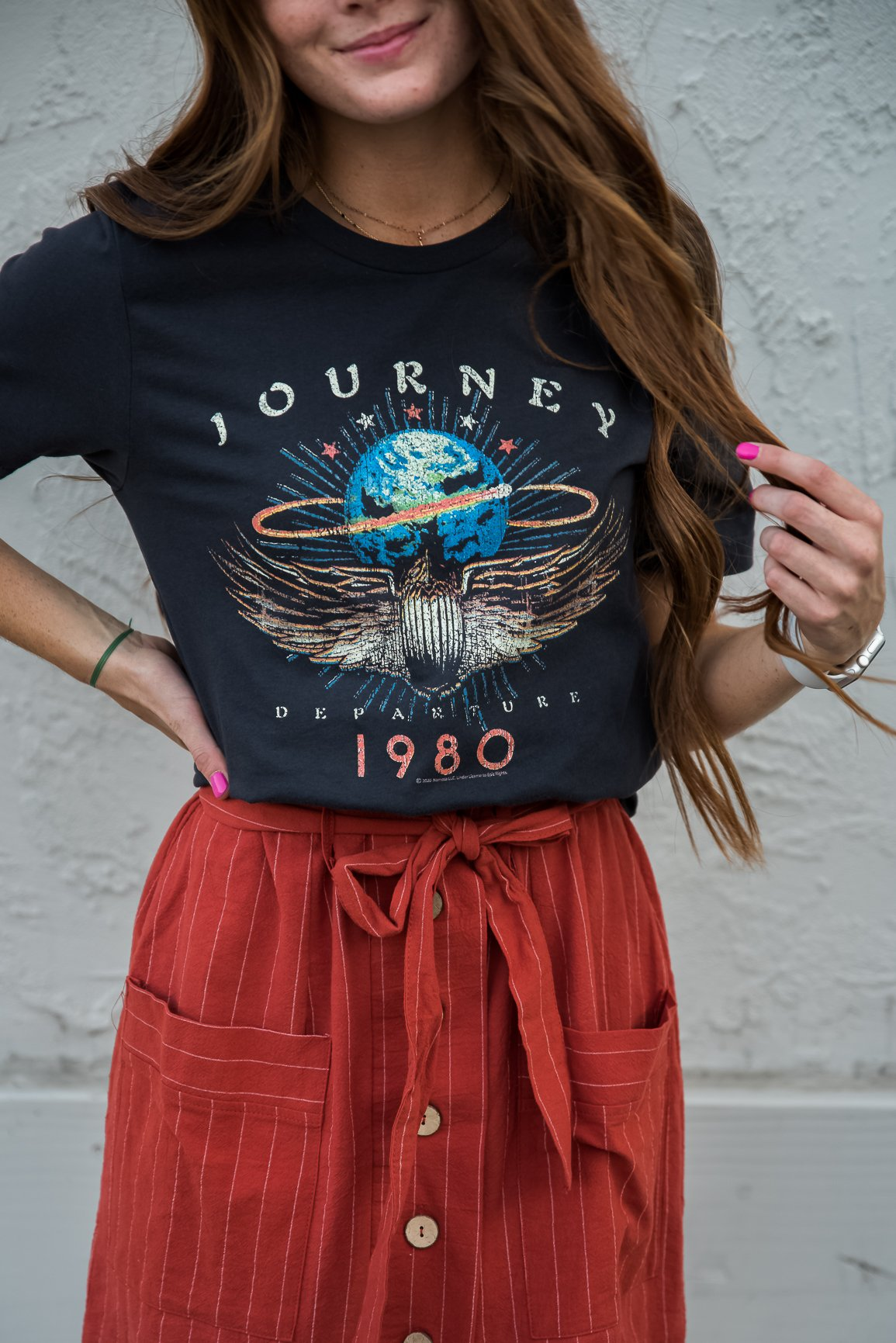 Journey Departure 1980 Graphic Tee in Smoke - Southern Rae's