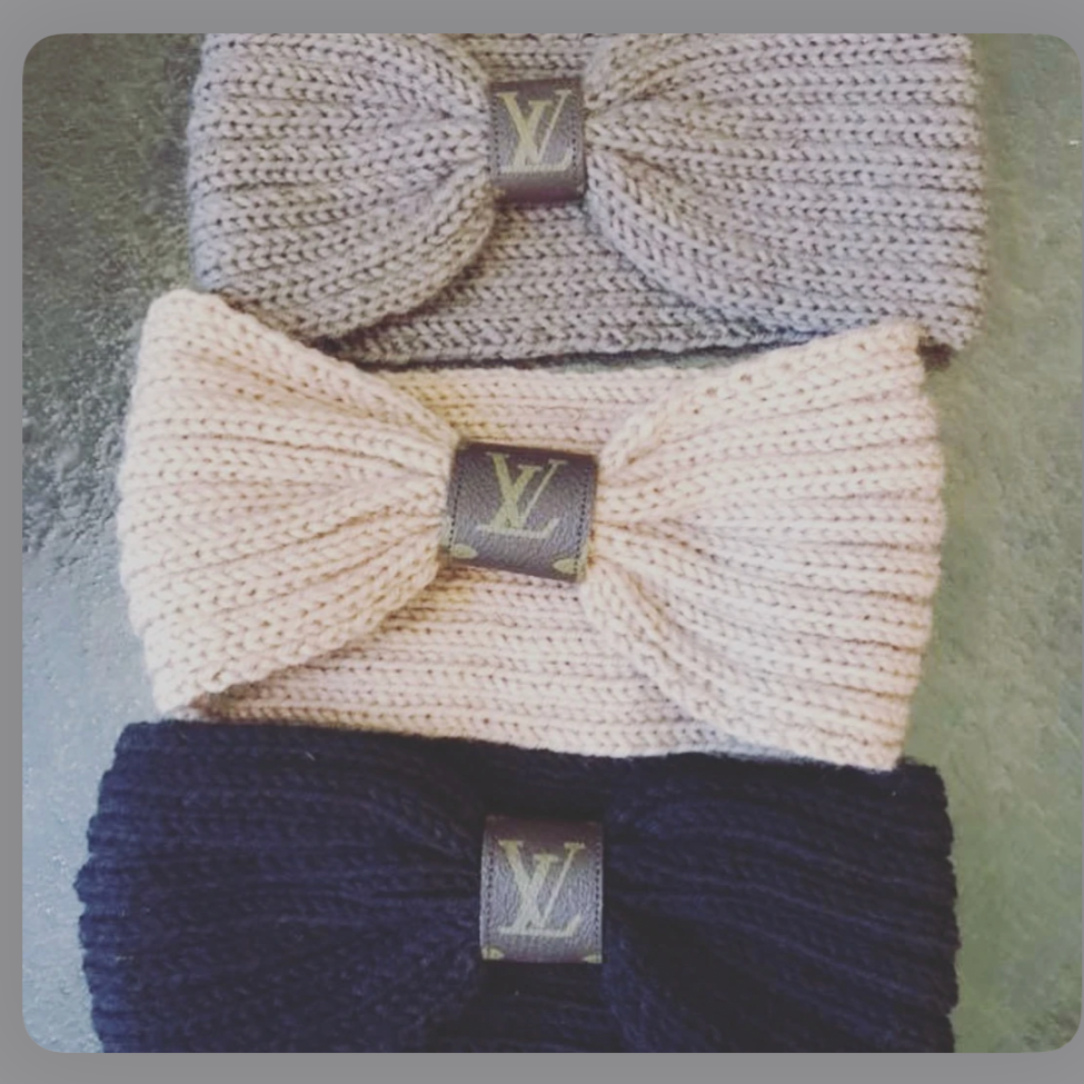 LV Knit Ear Warmer Muff - Southern Rae's