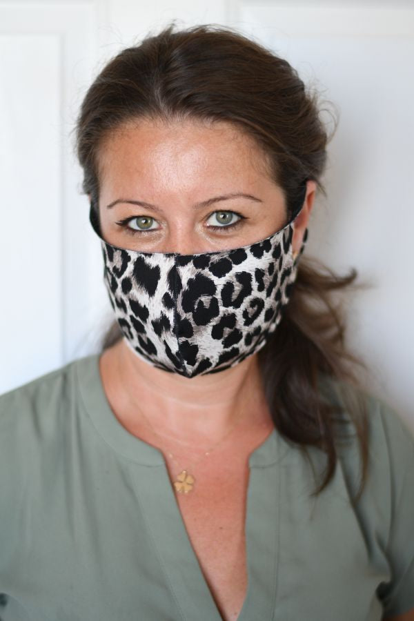 Brown Leopard One Layer Mask - Southern Rae's