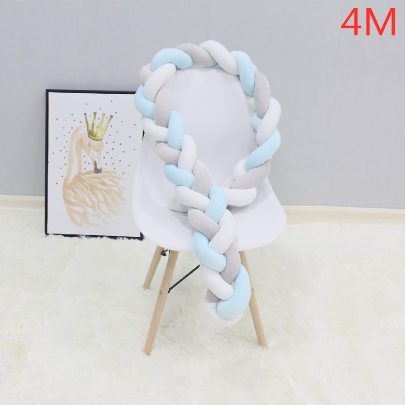 Braid Knot Bumper Baby Crib Protector