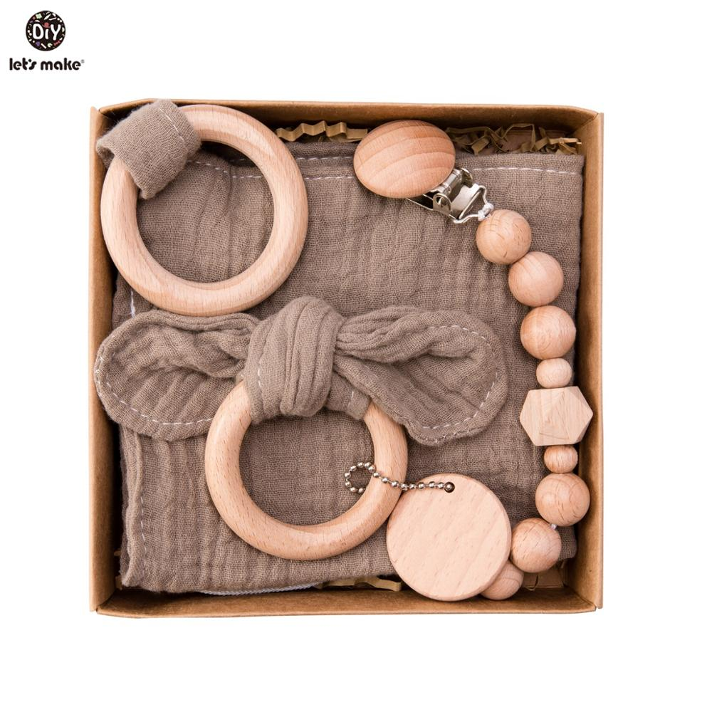 Wooden Toys Set with Rattle
