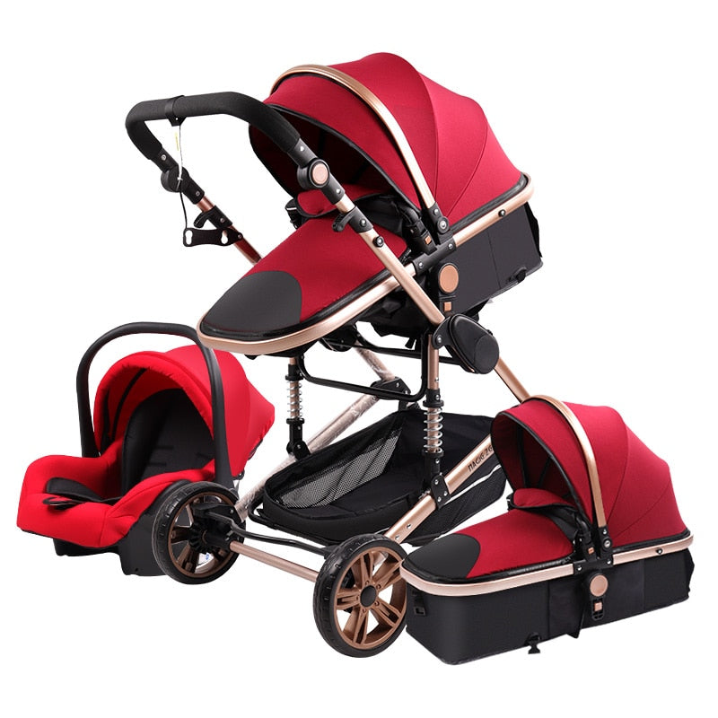 Baby Stroller 3in1 High View & Shock-Absorbers