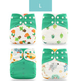 Washable Eco-friendly Reusable Diaper 4pcs/Set