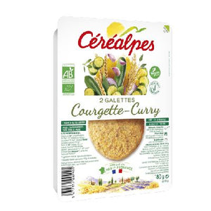 Galettes Courget Curry X2 180G