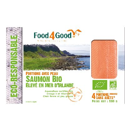 PORTIONS DE SAUMON BIO X4 500G