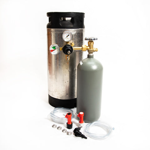 Whole Enchilada Pin Lock Keg Kit with 5 lb Co2 Cyl. with Picnic Faucet