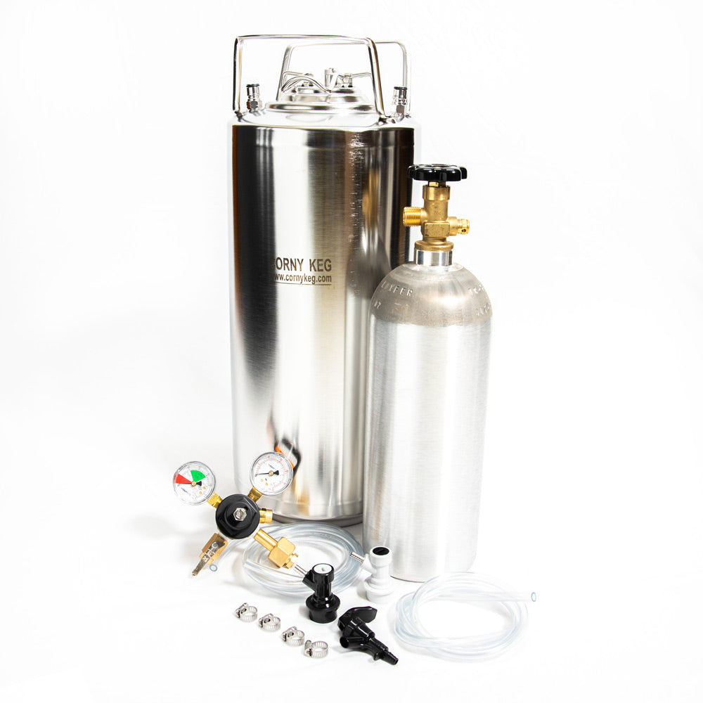 Whole Enchilada New 5 Gallon Ball Lock Keg Kit New 5lb. Alum Cyl. and Picnic Faucet