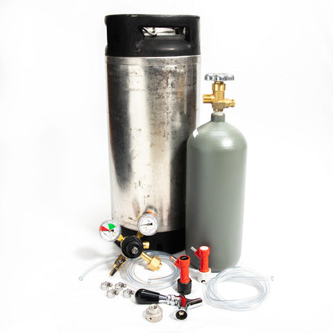 Whole Enchilada 5 Gallon Pin Lock Keg Kit 5lb. Cyl. and Beer Faucet