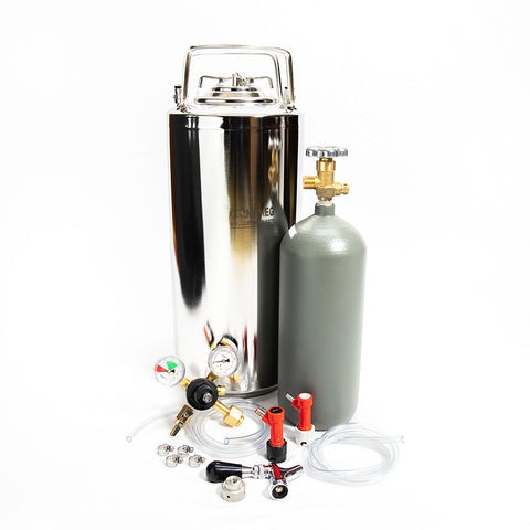 Whole Enchilada New 5 Gallon Pin Lock Keg Kit 5lb Cyl and Beer Faucet