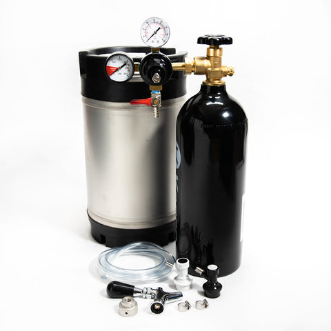 Cold Brew Coffee Nitrogen Keg Kit  with Standard Faucet – 2.5 Gal