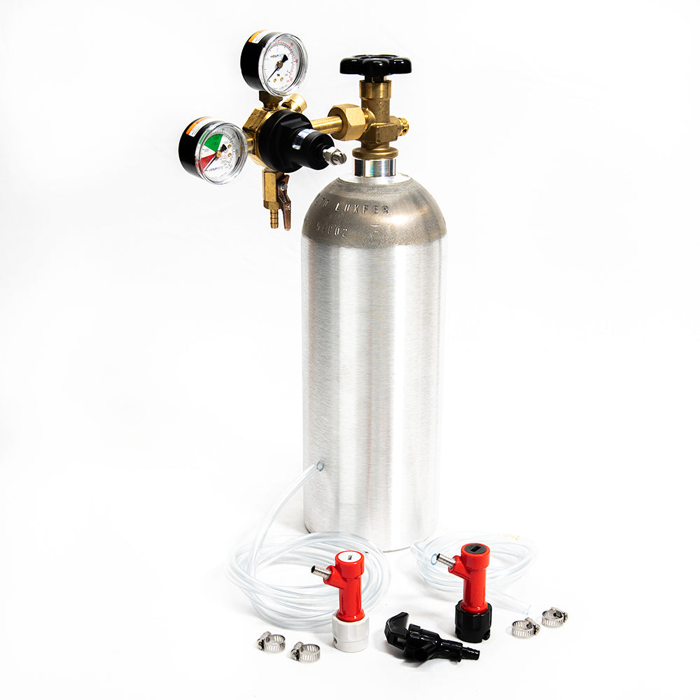 CO2 Pin Lock Kit with  NEW aluminum 5lb CO2 Tank