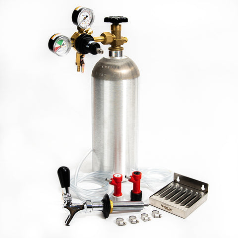 Home Brew Refrigerator Conversion Kit - NEW 5lb Aluminum CO2 Cylinder- Pin Lock