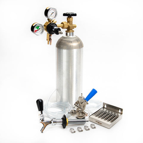 Refrigerator Conversion Kit - NEW 5lb Aluminum CO2 Cylinder with Sanke Coupler