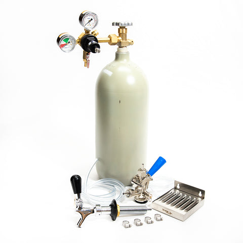 Refrigerator Conversion Kit - 10lb CO2 Cylinder with Sanke Coupler