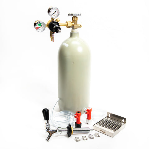Home Brew Refrigerator Conversion Kit - 10lb CO2 Cylinder - Pin Lock