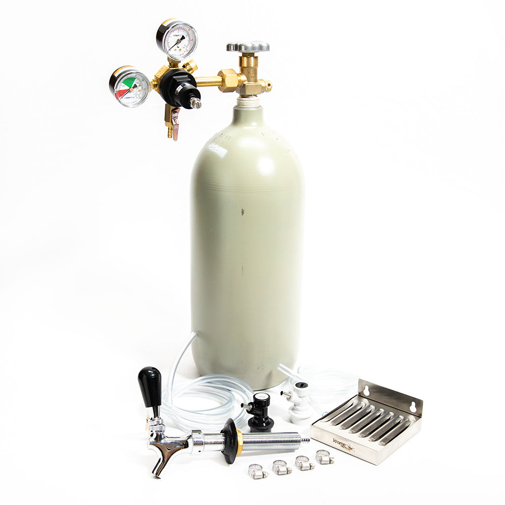 Home Brew Refrigerator Conversion Kit - 10lb CO2 Cylinder - Ball Lock