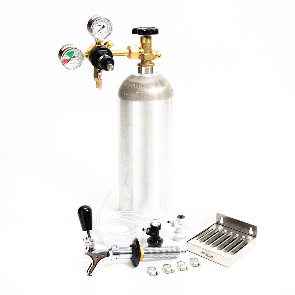 Home Brew Refrigerator Conversion Kit - NEW 5lb Aluminum CO2 Cylinder - Ball Lock