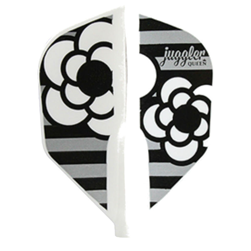 Fit Flight Juggler Queen Dart Flight, Rose, Black and White