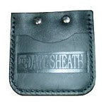 Black Leather Pocket Dart Sheath | Metroline