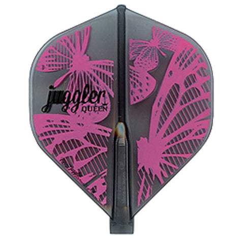 Fit Flight Juggle Queen Dart Flight, Standard, Smoke and Pink