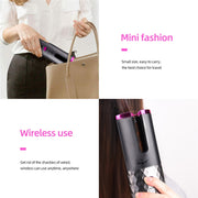 LED USB Rechargeable Auto Ceramic Curling Iron Waver