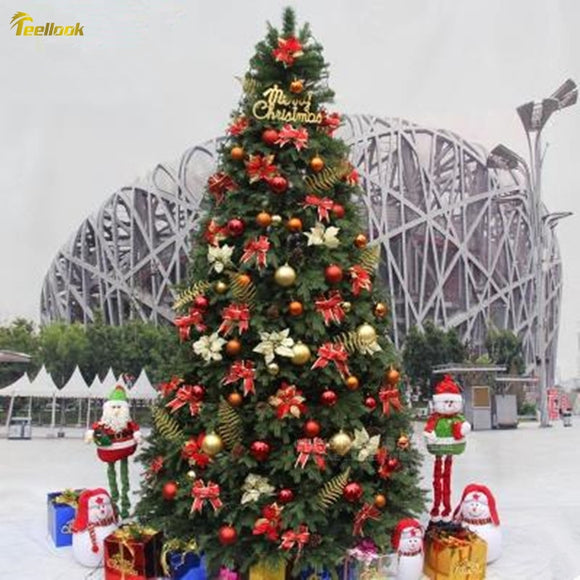 Teellook 3.0 m -4.0 m upscale luxury encryption decoration Christmas tree Christmas indoor outdoor Christmas arrangement scene