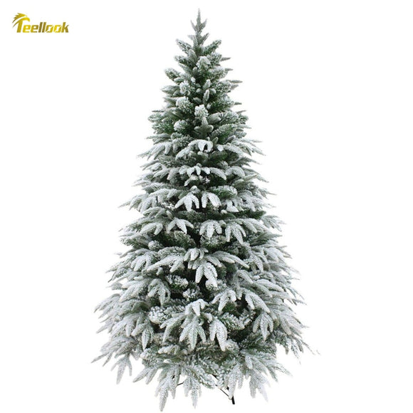 Teellook 1.2m/3.6m snow tree PE+PVC leaves Christmas New Year Mall hotel home decoration