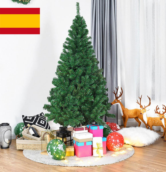 AGORA large Christmas tree of dense pine with snow to decorate for home new year 120CM 150CM 180CM 210CM