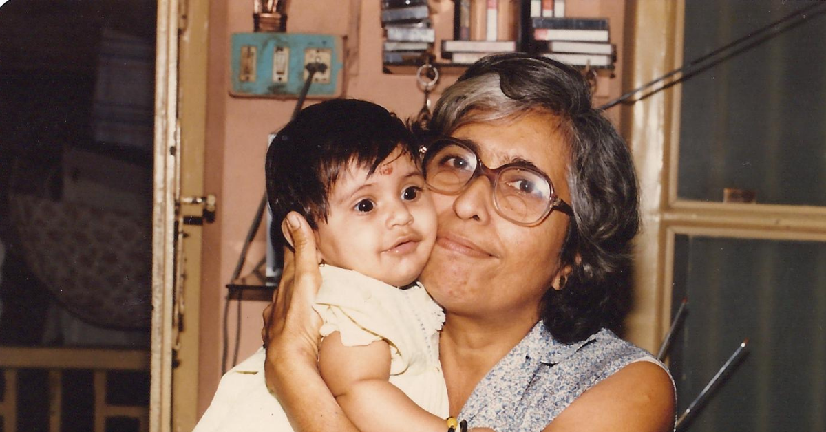 vintage photo of small baby and grandmother