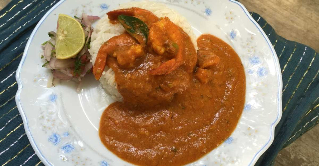 plate of prawn curry
