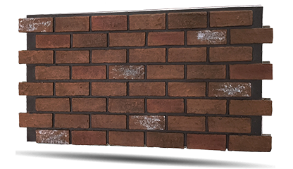 rustic faux brick panels