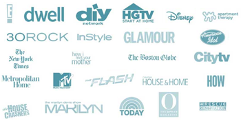 Products shown on Disney, hgtv, instyle, glamour, american idol, and more.