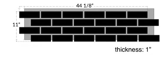 Classic Brick DIY brick wall panel Dimensions