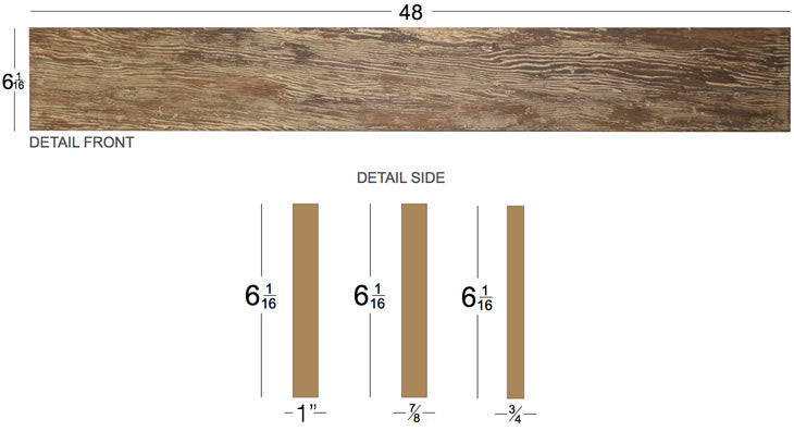 Barn Wood Wall Panel Dimensions