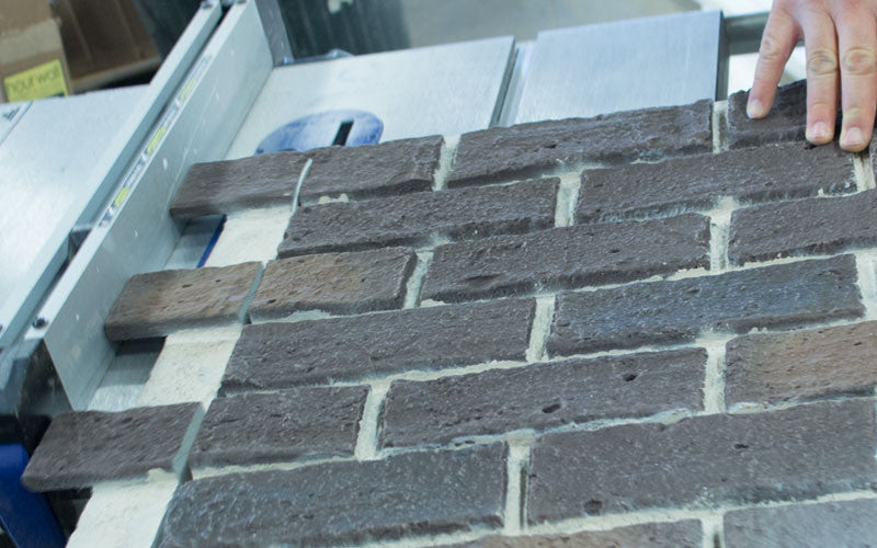 install first row brick panel