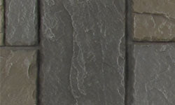Castle Stone Faux Stone Panel in Dark Brown