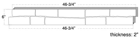 Ledge Stone Dimensions
