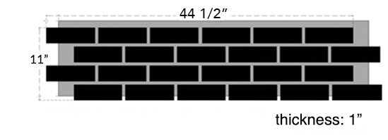 faux brick panel size