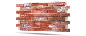 reclaimed red faux brick wall panels