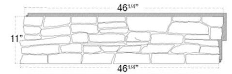 ridge stone faux stone panel size