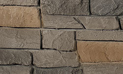 Ridge Stone Faux Stone Panel in Grey Brown