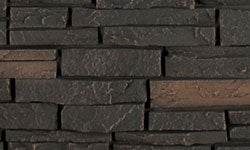 Stacked Stone Faux Stone Panel in Black Blend