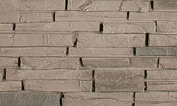 Stacked Stone Faux Stone Panel in Grey Blend