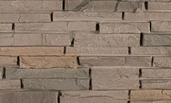 Stacked Stone Faux Stone Panel in Grey Brown