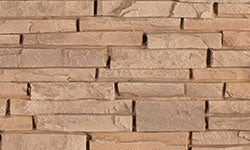 Stacked Stone Faux Stone Panel in Light Brown