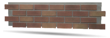 Authentic Faux Brick Panels in Red